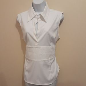 3 for $25- Beechers Brook White Blouse Size Large